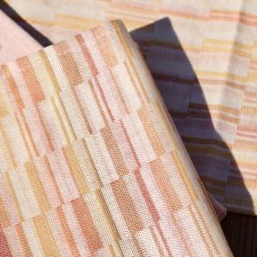 BROUILLADE ORANGE  fabriqué et tissé en France pur coton