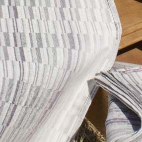 GRIS  fabriqué et tissé en France pur coton
