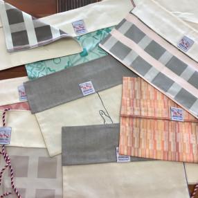 Enveloppe tous coloris  fabriqué et tissé en France pur coton ZÉRO DÉCHETS