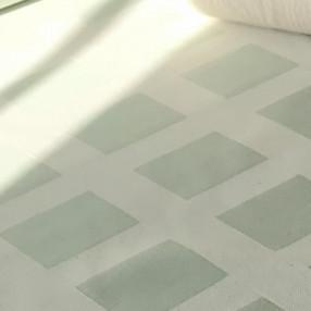 VERT AMANDE  fabriqué et tissé en France pur coton