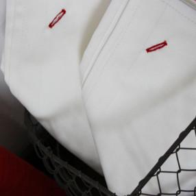BLANC  fabriqué et tissé en France pur coton