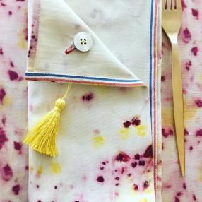 SERVIETTE JASMIN  fabriqué et tissé en France pur coton
