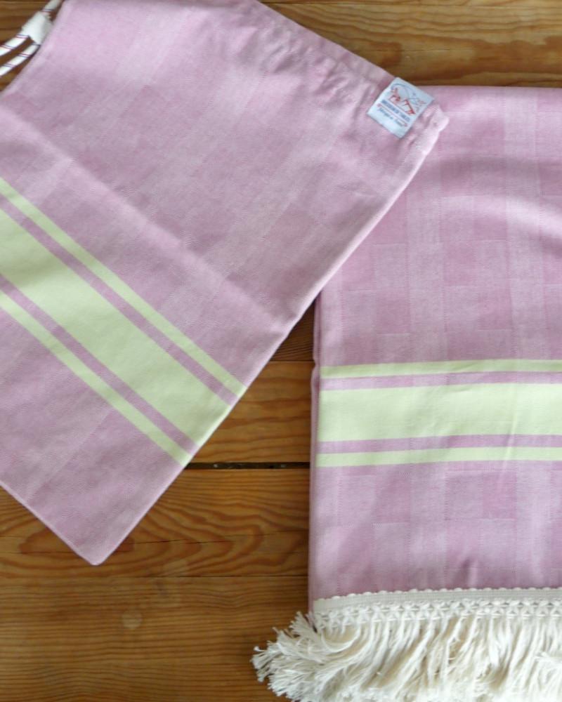 FUSCHIA/PISTACHE made in france coton d'Égypte