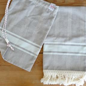GRIS/BLEU CIEL made in france coton d'Égypte