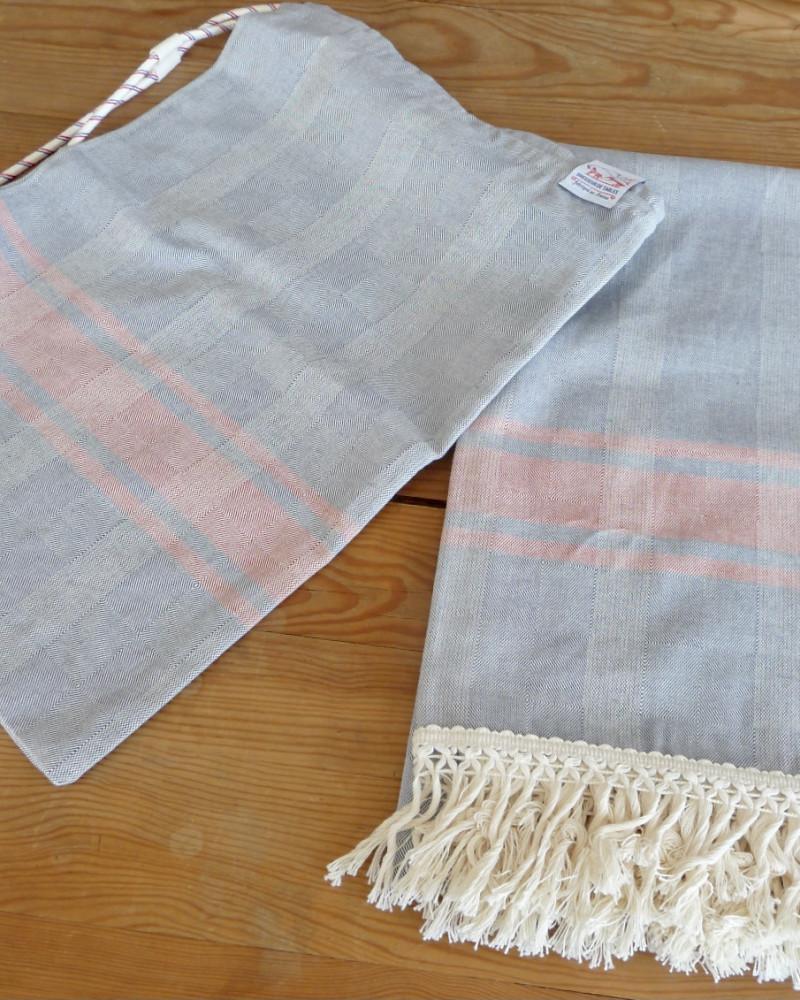 BLEU JEAN/CUIVRE made in france coton d'Égypte