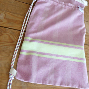SAC+FOUTA coton d'Egypte, made in france