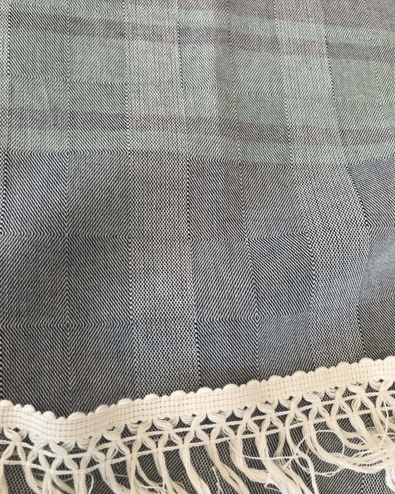 BLEU NUIT ET VERT FONCE made in france coton d'Égypte