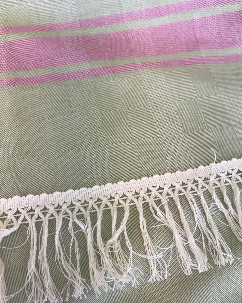 VERT  OLIVE ET FUCHSIA  made in france coton d'Égypte