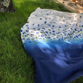 Azur tissé et fabriqué en france  OEKO-TEX® 100% coton