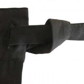 SANGLE NOIR DU TABLIER  fabriqué et tissé en France pur coton