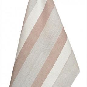 Détail châtaigne  fabriqué et tissé en France pur coton