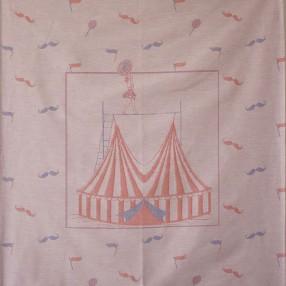 détail motif circus rose