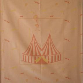 détail motif circus orange
